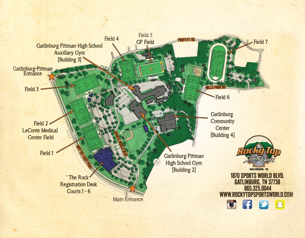 Smoky Mountain Shootout Field Map